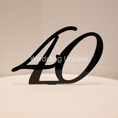 Birthday Cake Topper numbers acrylic 18 21 30 40 50 60 70 80 glitter gold