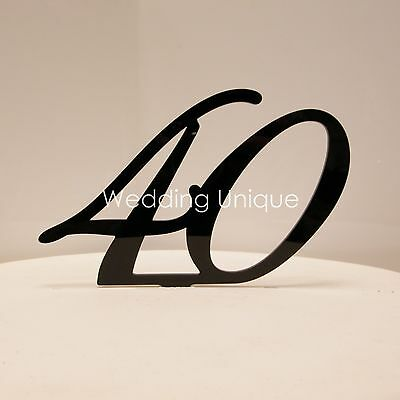 Cake Topper numbers joined acrylic monogram. Various colours! BEST PRICE!!
