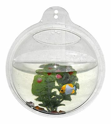 Wall Aquarium Fish Bowl Tank Hanging Bubble Mount Decoration Mounted Home Decor