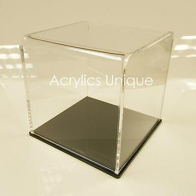 Acrylic Display Case Ideal For Upright Gloves With A Mirror Delux Base.