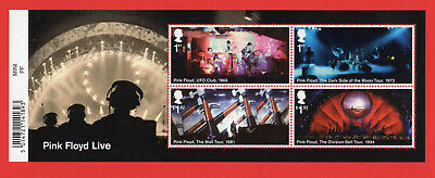 2016 PINK FLOYD LIVE Mini Sheet Mint - WITH BARCODE MARGIN MS3855