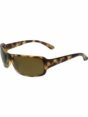 Ray-Ban Women's Polarized Highstreet RB4075-642/57-61 Brown Rectangle Sunglasses