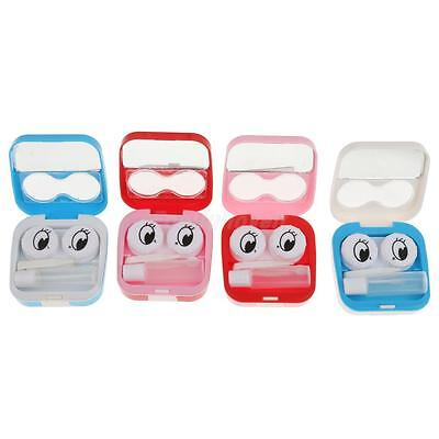 Smile Face Portable Contact Lens Kit Case Pocket Size Storage Holder Container