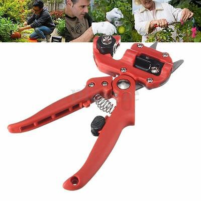 Professional Garden Tree Pruning Shears Grafting Cutting Tool With 2 Blades Red
