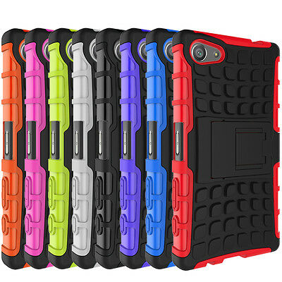 For Sony XPERIA Z5 Compact Case Hybrid Armor kickstand Phone Protective Cover