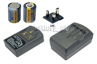 UK Battery+Charger For PENTAX IQ Zoom 105 105G 105R 110 115 115M