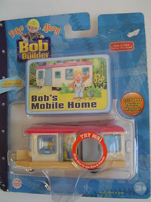 NEW Bob the Builder Take Along Bob's Mobile Home Die-Cast Metal + Collector Card