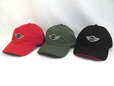 9c5e00b39e2 Mini Cooper Adjustable Baseball Cap Recycled Material Embroidered Wings Logo