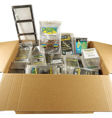 Mixed Assortment of Trading Card Storage Supplies ^ Boxes Top Loader Bags Frames
