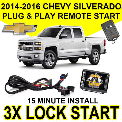 2014-2016 Chevy Silverado Plug & Play Remote Start System Simple Chevrolet 1500
