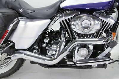 Chrome High Output 2-into-1 Exhaust Pipe System Harley Touring Bagger Dresser