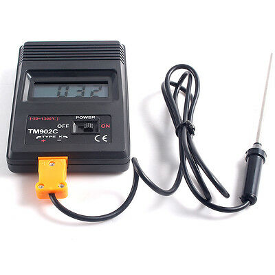 Digital LCD TM-902C K Type Thermometer Temperature Meter+Probe High accuracy