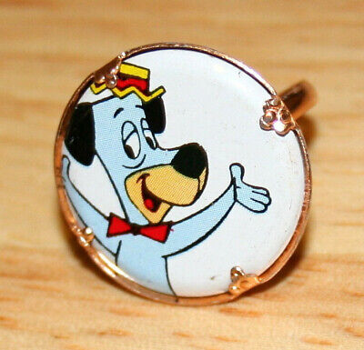2 Vtg Toy Gumball Machine Prize Ring Huckleberry Hound Hanna Barbera 1970s