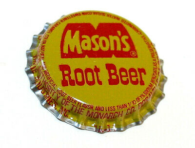 Vintage Soda Masons mason's Root Beer Metal Bottle Cap NOS New