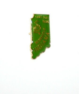 Vintage State Of Indiana Tourist Map Lapel Pin Tie Tac 1980s New NOS