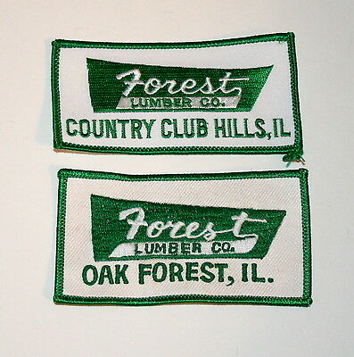 2 Vintage Forest Lumber Co Country Club Hills Illinois Patch New NOS 1980s