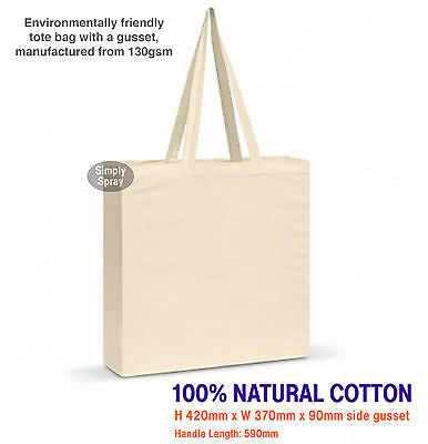 Blank Natural Cotton Calico Shoulder Bag Carnaby Tote: H 42cm x W 37cm -2 straps