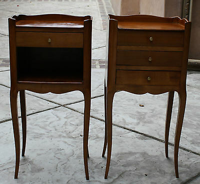 Magnificent  Pair Of 19C English Night Stands Signed