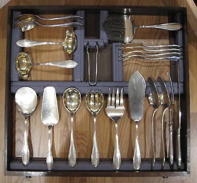 Magnificent 1900's German 188 Piece 800 Silver Flatware Set in Case  324 ounces