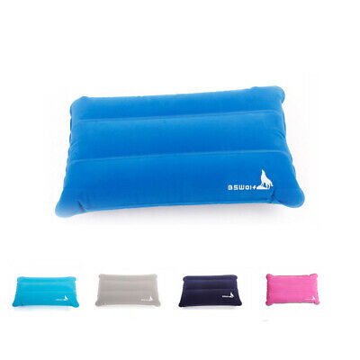 5Colours Inflatable Portable Outdoor Camping Air Pillow Hiking Travel Blow Mouth