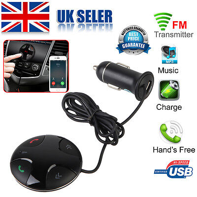 Bluetooth Wireless Car FM Transmitter MP3 Radio Player Charger Kit With Dual USB