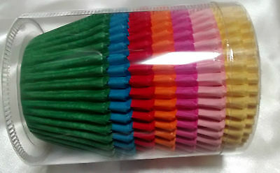 420 BRIGHT mix colour MUFFIN CASES large Easybake 51 x 38 cup cake cases QUALITY