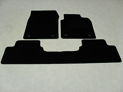 Vauxhall Vectra C 2003-2008 (3 Piece) Fully Tailored Deluxe Car Mats in Black.