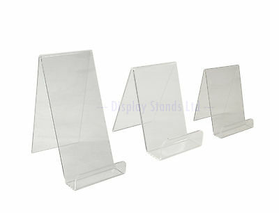 Acrylic Counter Book Plate Phone Easel Display Stand Perspex Desk Retail (DS7+)