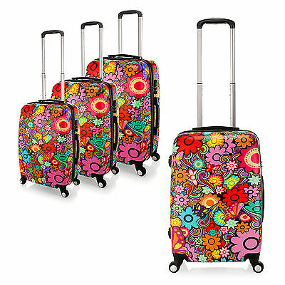 20 24 28 inch PC Flower Butterfly Travel Luggage Suitcase 4 Wheel Cabin Trolley