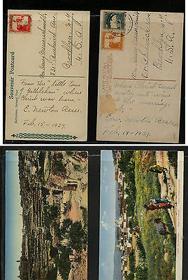 Palestine  2  nice color post cards to  US          KL0209