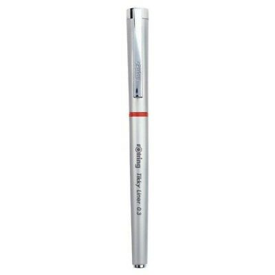 Rotring Tikky Silver Liner  0.3 Needlepoint Tip  Gel Ink Pen New In Box S0919070