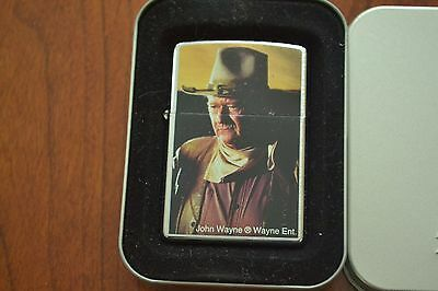 ZIPPO Lighter, John Wayne, Polished Chrome, Sealed, M506
