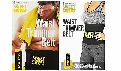 Sports Research Sweet Sweat Waist Trimmer Belt 1-size-fits-all FREE SHIPPING