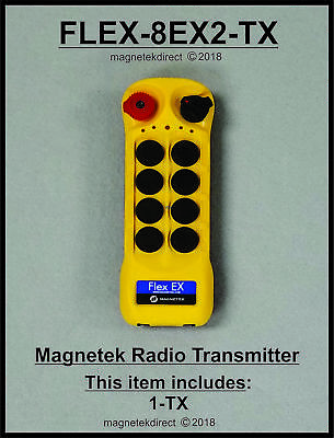 Magnetek 8EX Transmitter, New Flex series Radio Remote Control 0-TXC-05