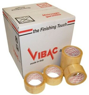 Vibac Pvc 700 Clear/Transparent Packing Packaging Tape 48Mm X 66M, Choose Qty