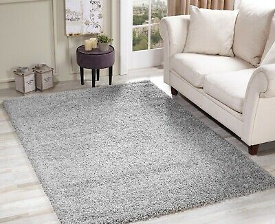 MODERN SOFT SHAGGY RUG 5cm THICK PILE PLAIN SMALL - EXTRA LARGE SIZE SALE
