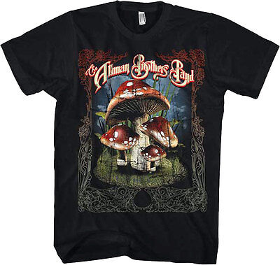 69b6149fd67 Official Allman Brothers Band - Many Mushrooms Adult T-Shirt -Southern rock  Jam