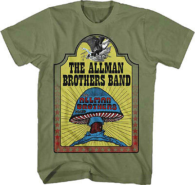 Official Allman Brothers Band - Hell Yeah Adult T-Shirt -Southern rock Jam band