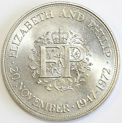 1972 Commemorative Crown Queens Wedding Anniversary Extremely Fine Condition