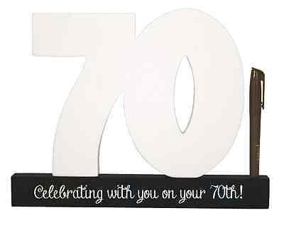 NEW Splosh Wooden Signature Number 70th Birthday Plaque You Sign With Pen SGN70