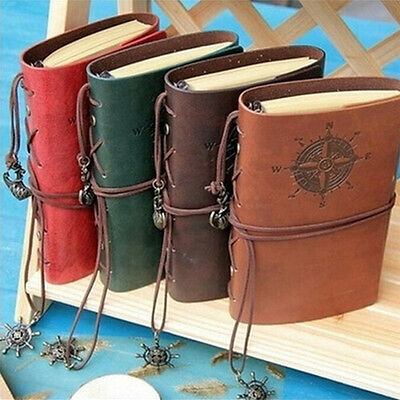 Vintage Classic Retro Leather Journal Travel Notepad Notebook Blank Diary TS