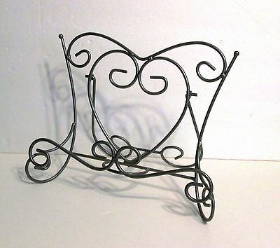 """12"""" wide Gray Metal Easel Stand/Frames/Art/Photos/Cook/ Books Plates Displays"""