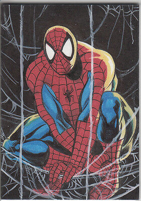 2016 Marvel Masterpieces ART SKETCH Spider-Man Matt Hebb 1992 Jusko SM 1 of 1