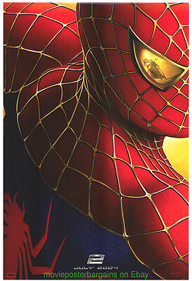 SPIDER-MAN 2 MOVIE POSTER Original DS 27x40 Rare 1st Advance Style SPIDERMAN !!!