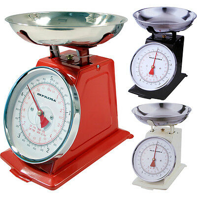 5kg TRADITIONAL 11LB KITCHEN WEIGHING WEIGHT SCALE VINTAGE BOWL RETRO SCALES