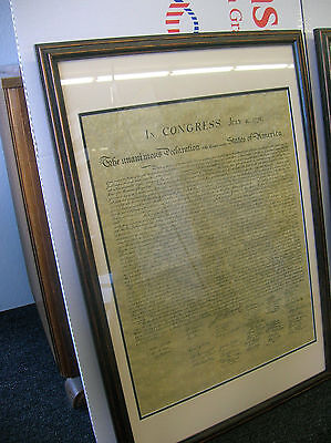 """Framed US Declaration of Independence, 1776 23"""" x 29"""" Permium Double matting"""