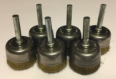 "6 Pk. 1-1/4"" Alfa USA Brass Wire Cup Brush"
