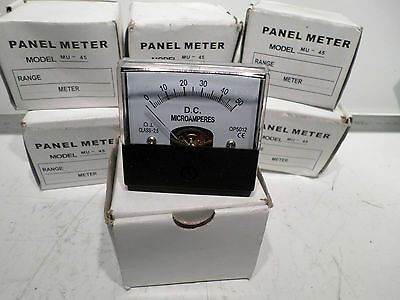 JAYCAR - Bulk lot of 8 -- 0- 1mA MU45 Panel Meter - Moving Coil Type QP5010