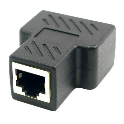 Cat6 RJ45 8P8C Plug to Dual RJ45 Splitter Network Ethernet Patch Cord Adapter