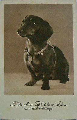 Vintage Card.dogs.a Birthday Present (Loosly Translated).marked 1935